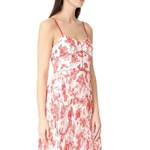 Club Monaco Sinthea Dress - Red & White Floral Ple